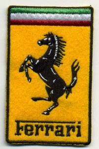 Ferrari embroidery patch