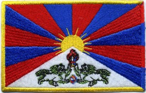 Flag of Tibet embroidery