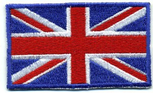 Flag of United Kingdom Union Jack embroidered patches