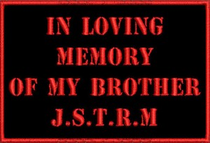in loving memory sample of memorial patch made by our company