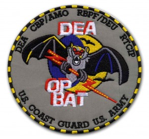 Embroidered Military Patch Sample - DEA OP BAT