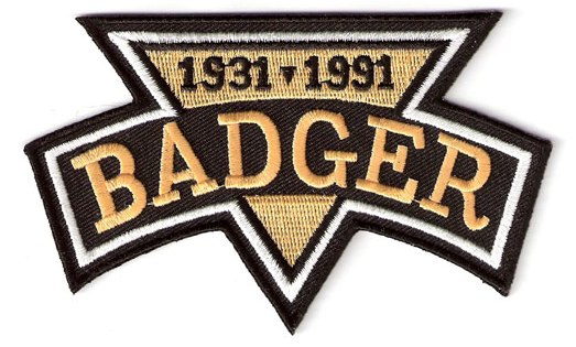 memorial patch sample - Badger